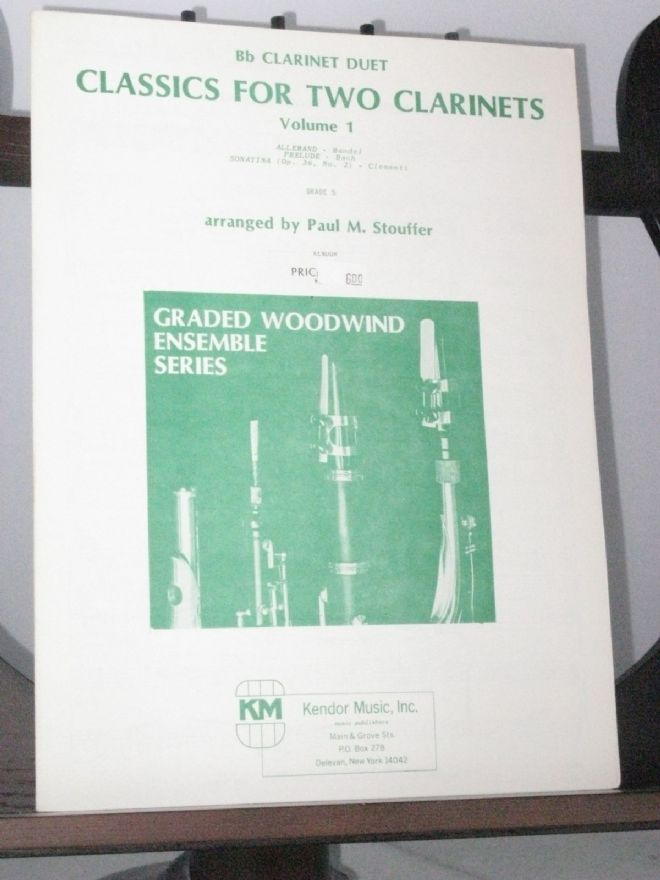 Classics for 2 Clarinets Vol 1 arr Stouffer P M
